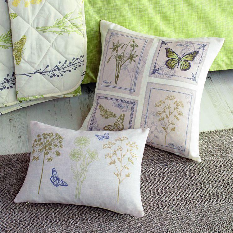 Botanique Floral Filled Cushion Green Tonys Textiles