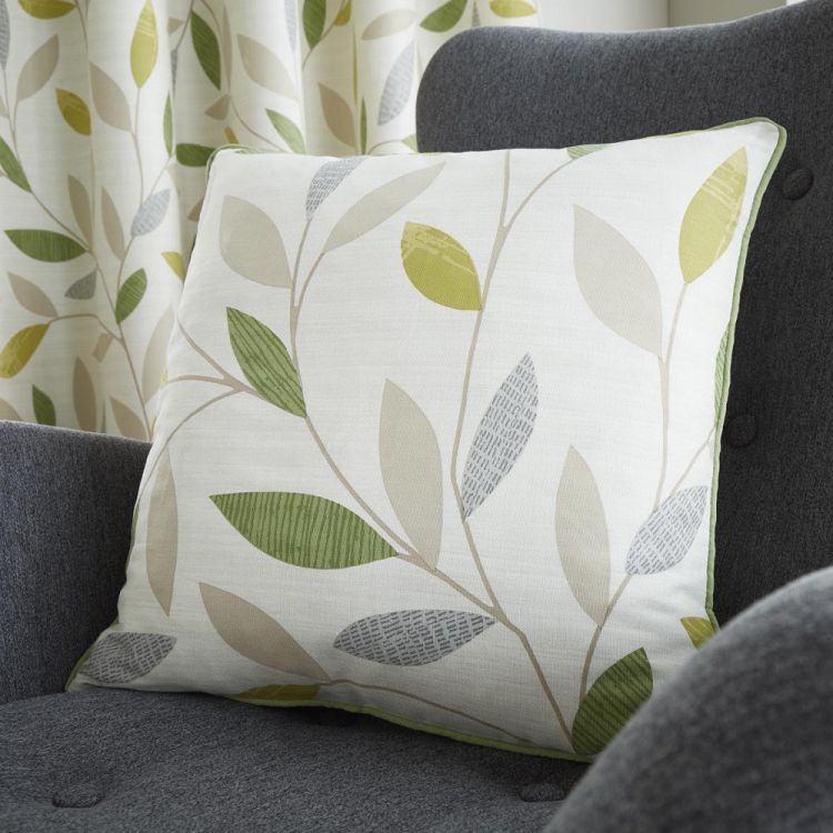 Beechwood Leaf Cushion Cover Green Tonys Textiles