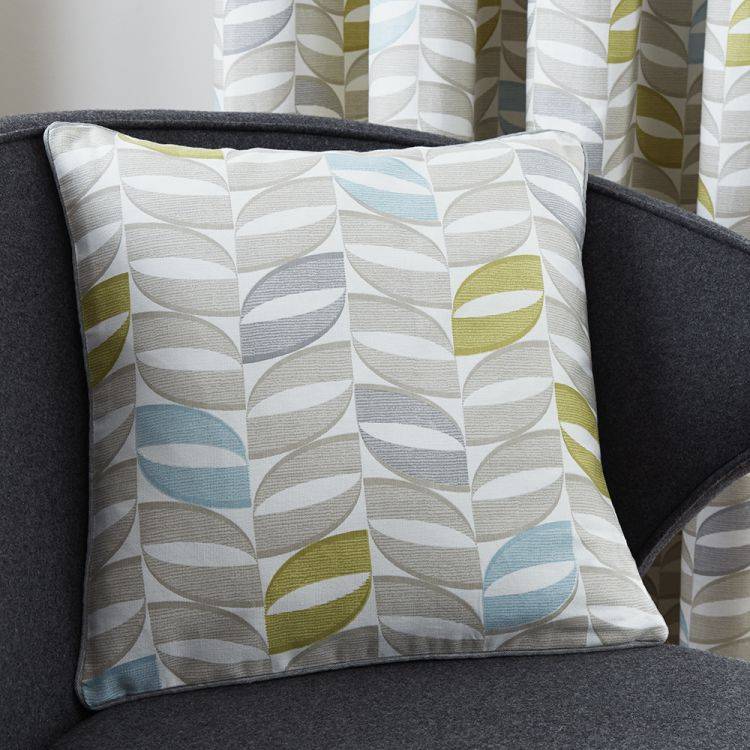 copeland leaf cushion cover duck egg blue tonys textiles. Black Bedroom Furniture Sets. Home Design Ideas