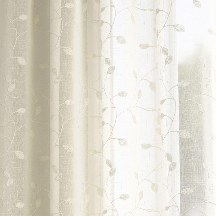Harrogate Leaf Ivory Voile Panel Tonys Textiles