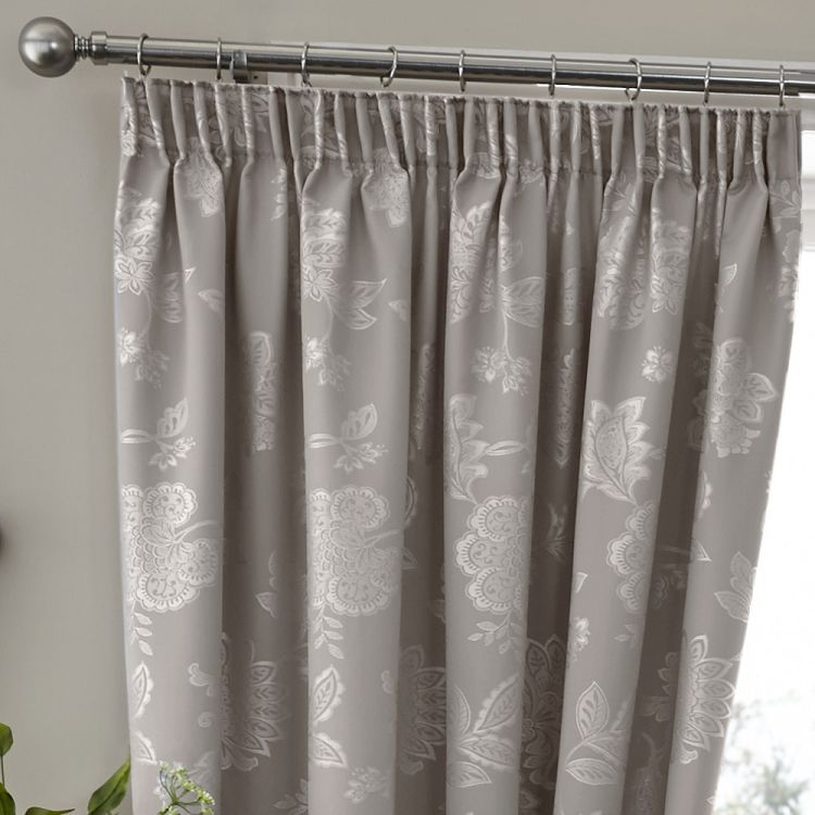 Floral Jacquard Thermal Blackout Tape Top Curtains
