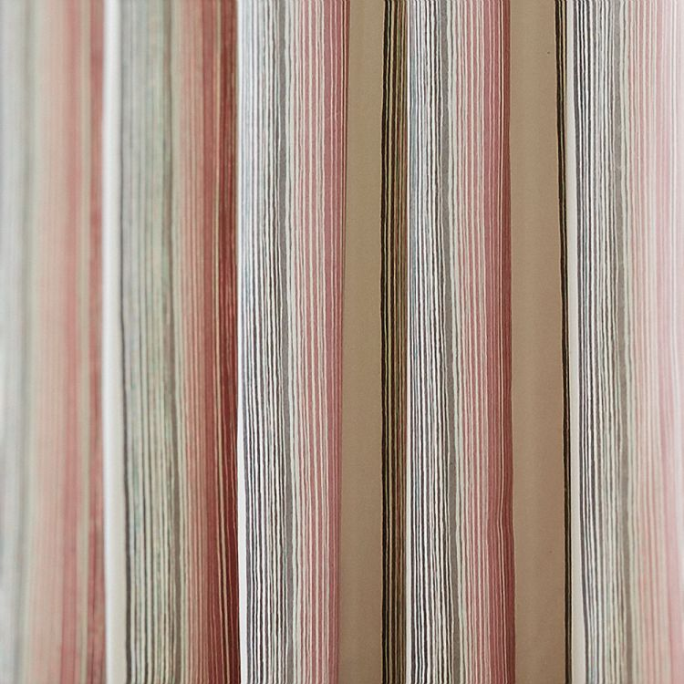 Stripe Fully Lined Curtains Blush Pink Tonys Textiles