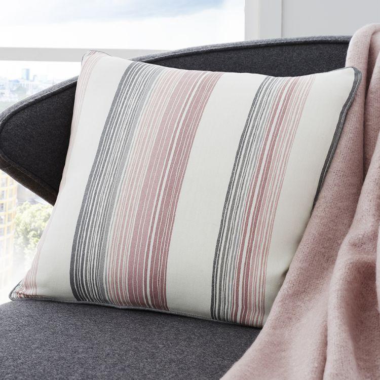 Rydell Stripe Cushion Cover Blush Pink Tonys Textiles