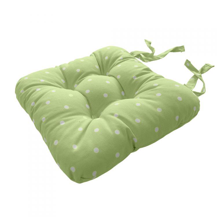 Dotty Tie On Seat Pad Sage Green Tonys Textiles