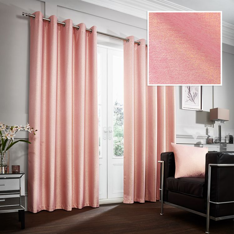 Glitter Glamour Thermal Blackout Ring Top Curtains