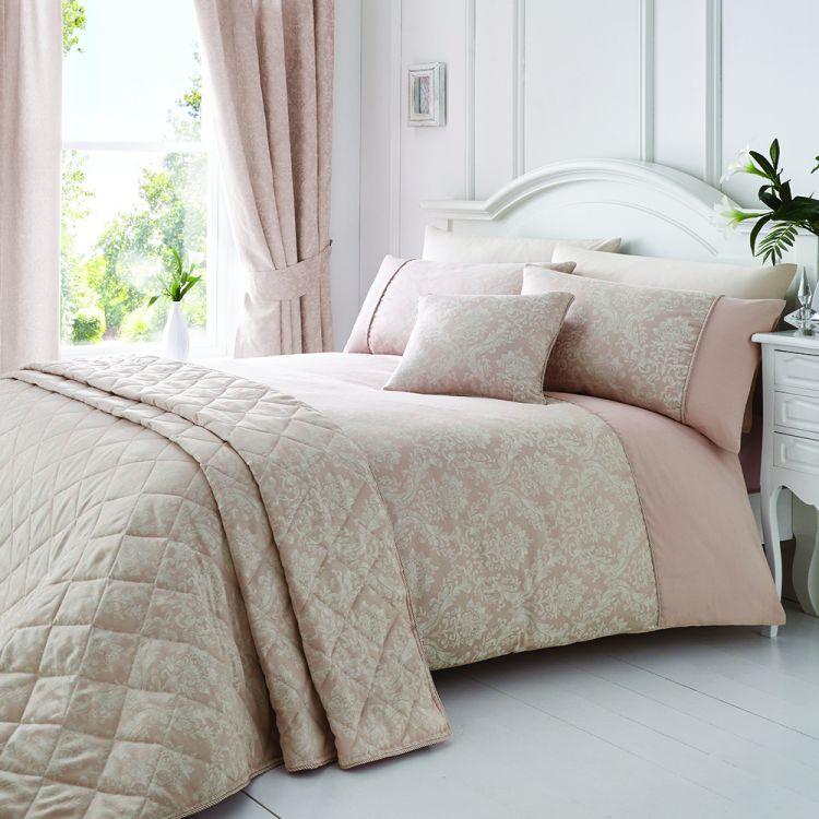 Laurent Jacquard Cotton Rich Pink Duvet Cover Set