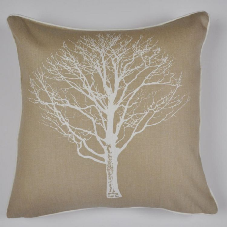 Woodland Trees Cushion Cover Natural Tonys Textiles
