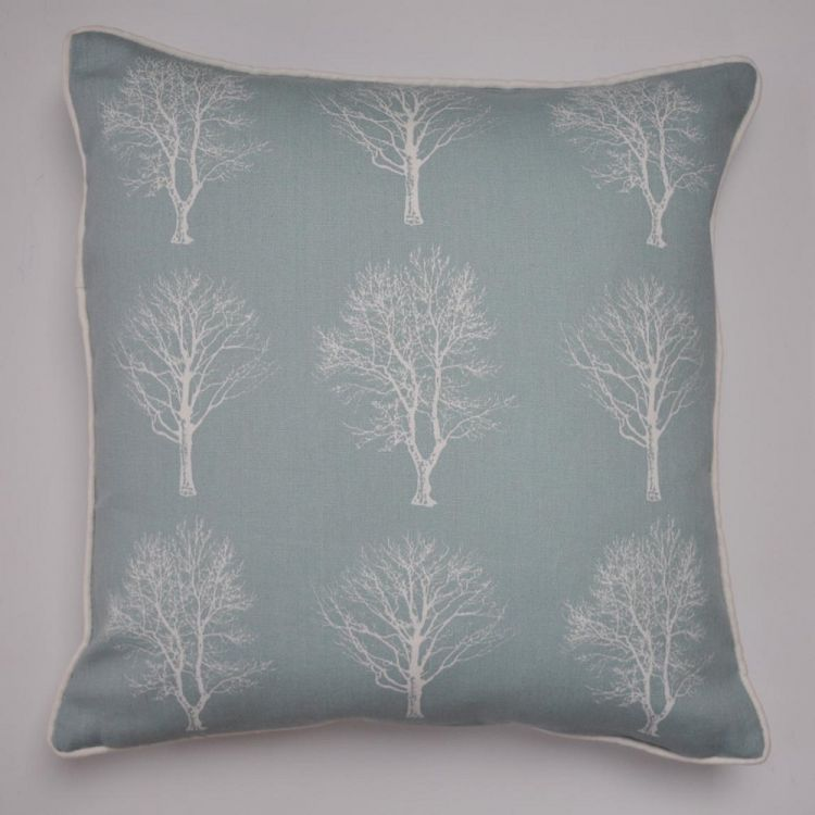 woodland trees cushion cover duck egg blue tonys. Black Bedroom Furniture Sets. Home Design Ideas