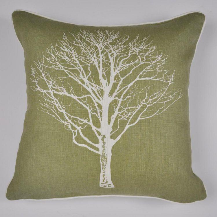 Woodland Trees Cushion Cover Green Tonys Textiles