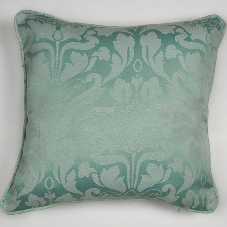 cotton rich jacquard cushion cover duck egg blue. Black Bedroom Furniture Sets. Home Design Ideas