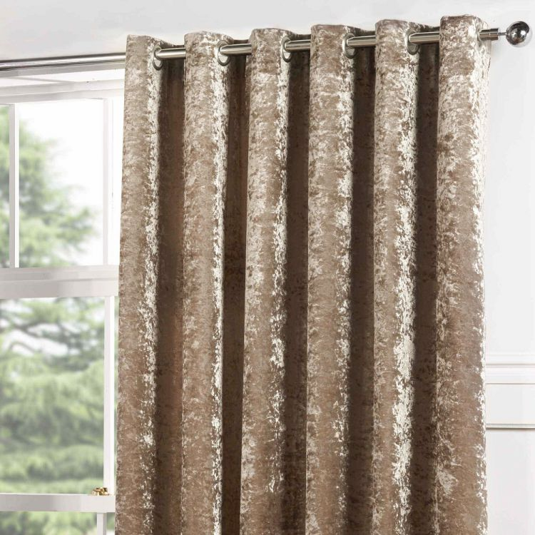 Kensington Crushed Velvet Eyelet Door Curtain