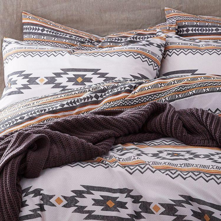 Geometric Aztec Duvet Cover Set Multi Tonys Textiles