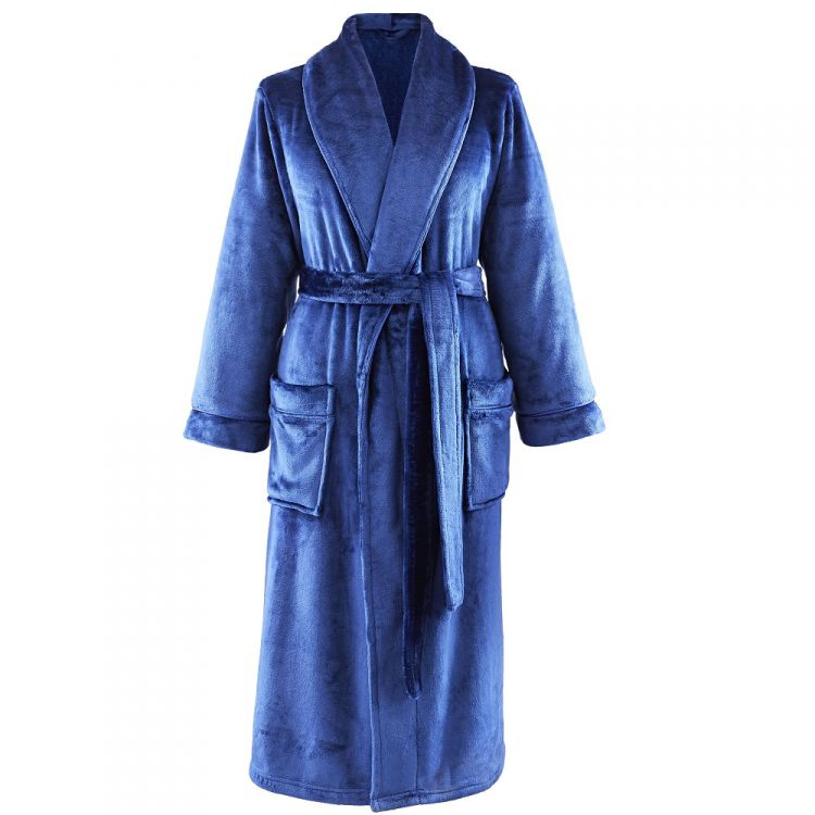 Cl Home So Soft Navy Bathrobe Tonys Textiles