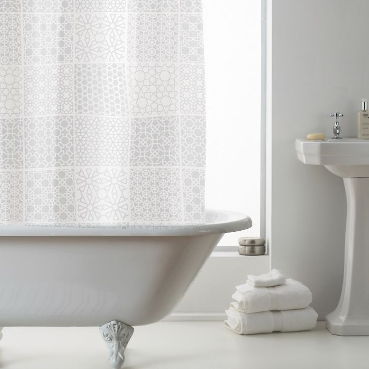 Tuile Peva Shower Curtain White Tonys Textiles