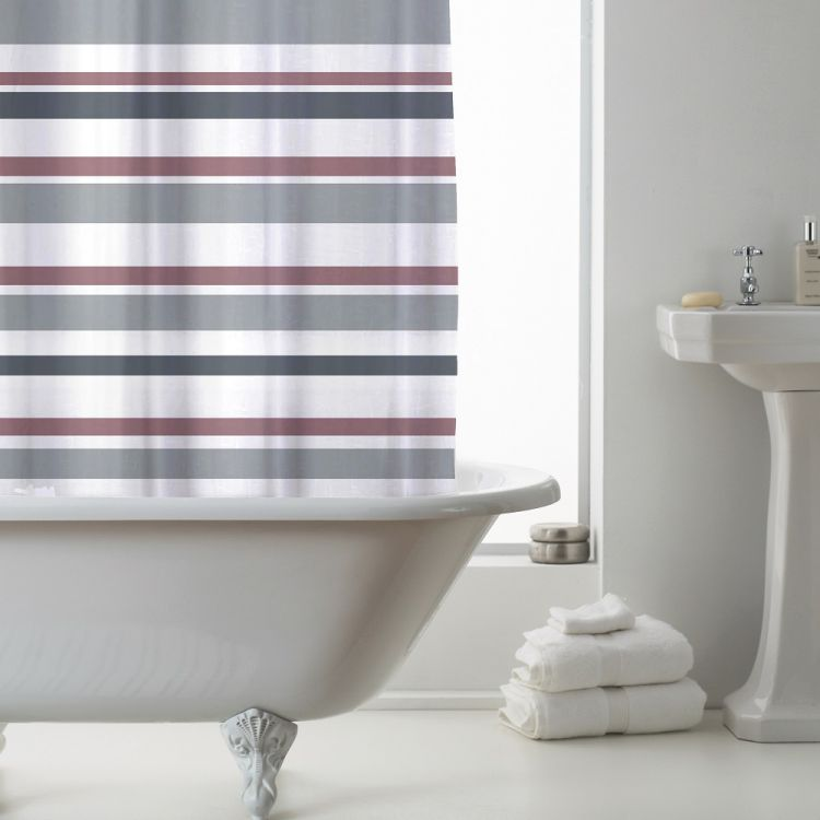 Luxury Vibrant Stripe PEVA Shower Curtain