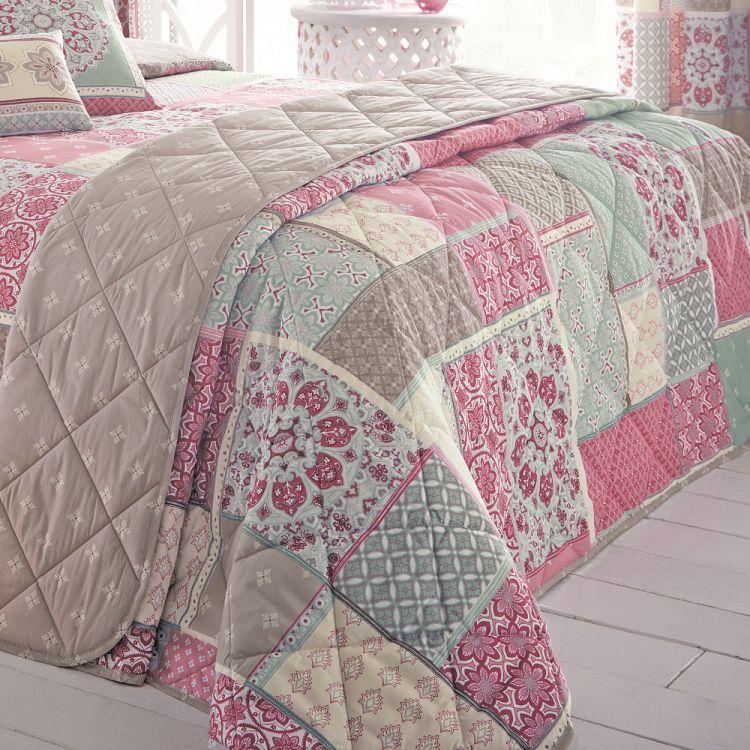 Shantar Patchwork Pink Bedspread Tonys Textiles