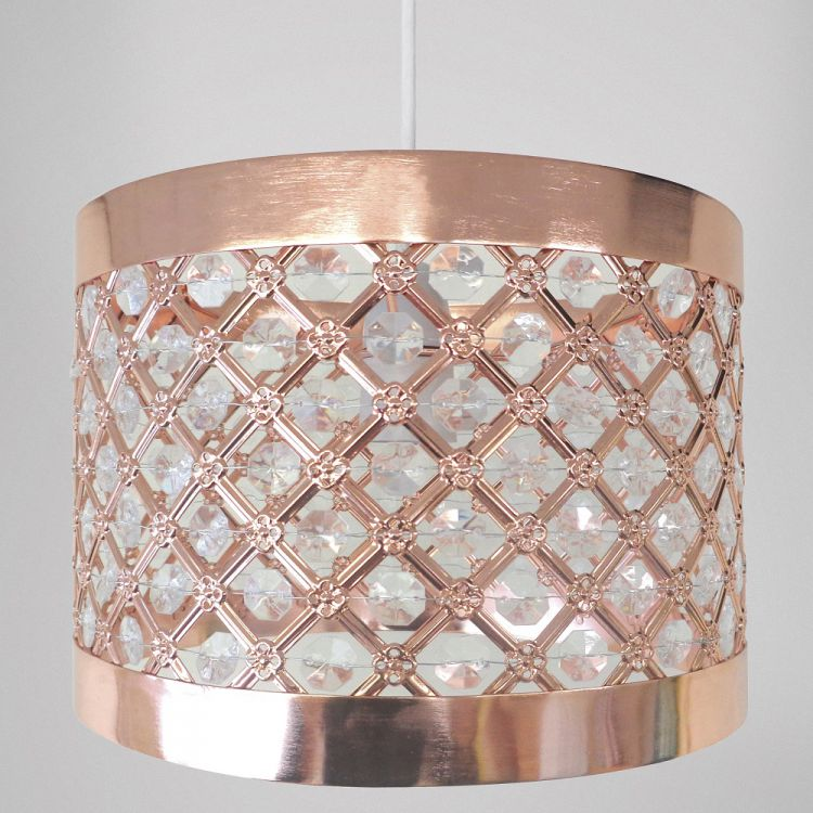 14 In Single Shade White And Silver Hanging Lamp Global: Light Shade Fitting