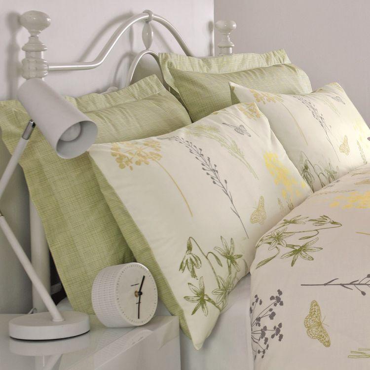 Botanique Floral Green Oxford Pillowcases Tonys