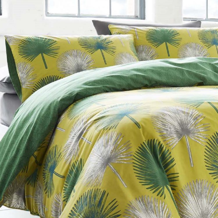 Catori Palm Tree Duvet Cover Set Yellow Green