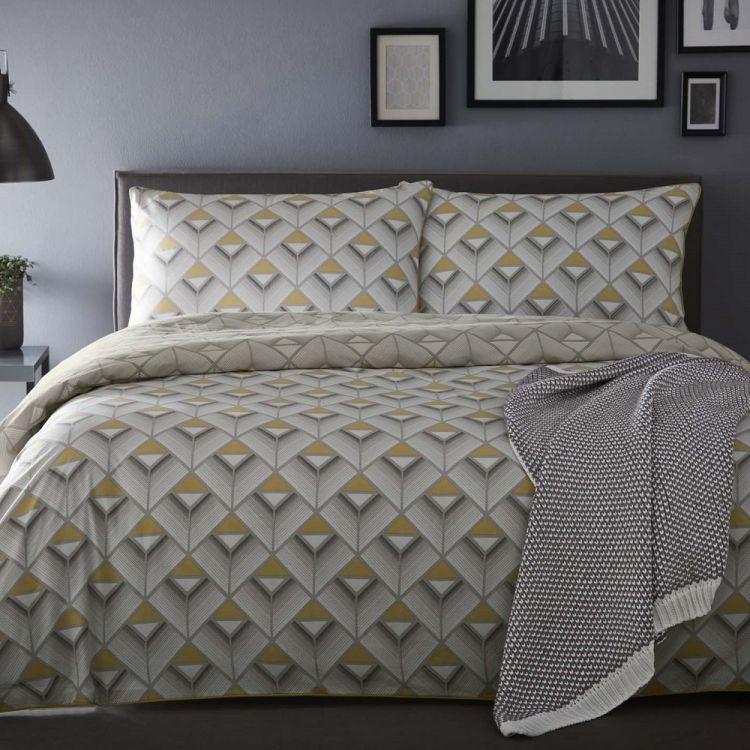 Axis Geometric 100 Cotton Reversible Duvet Cover