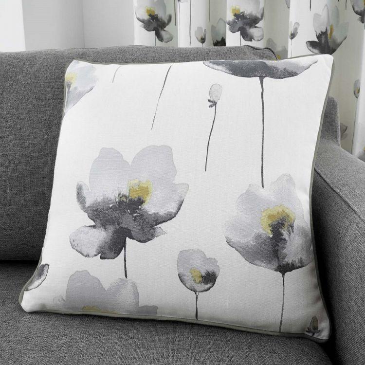 Kiera Floral Cushion Cover Grey Tonys Textiles