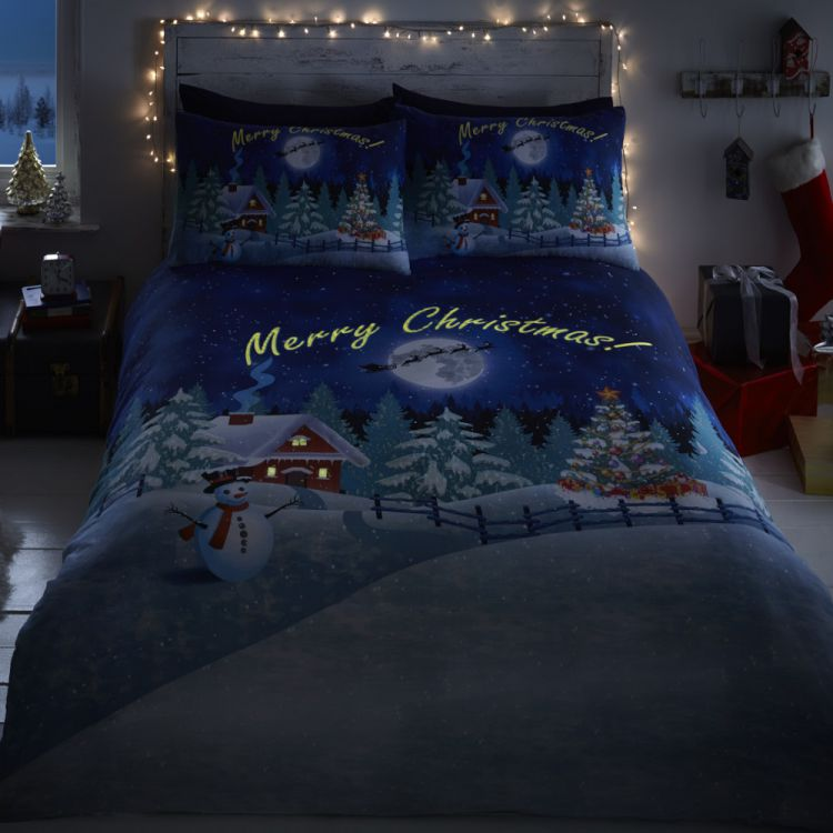 Christmas Glow In The Dark Duvet Cover Tonys Textiles