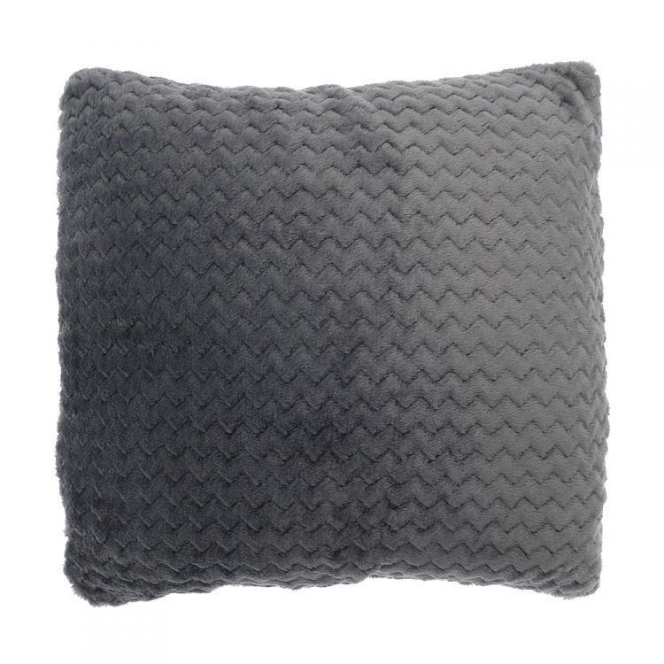 Chevron Stripe Two Pack Cushion Covers Grey Tonys