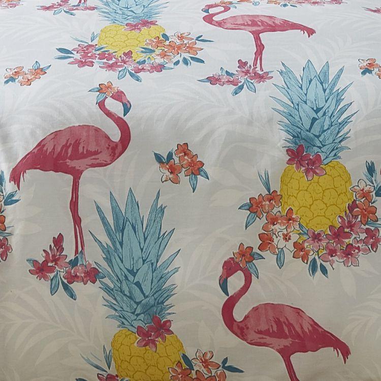 Flamingo Reversible Duvet Cover Set Pink Multi