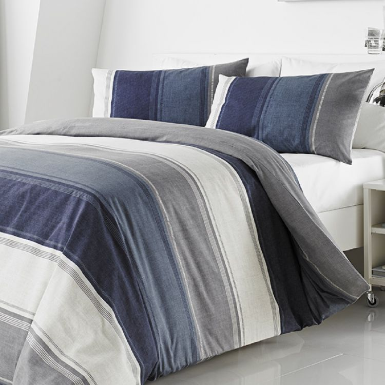 0df26681eb22 Betley | Stripe | Duvet Cover Set | Blue | Multi | Tonys Textiles