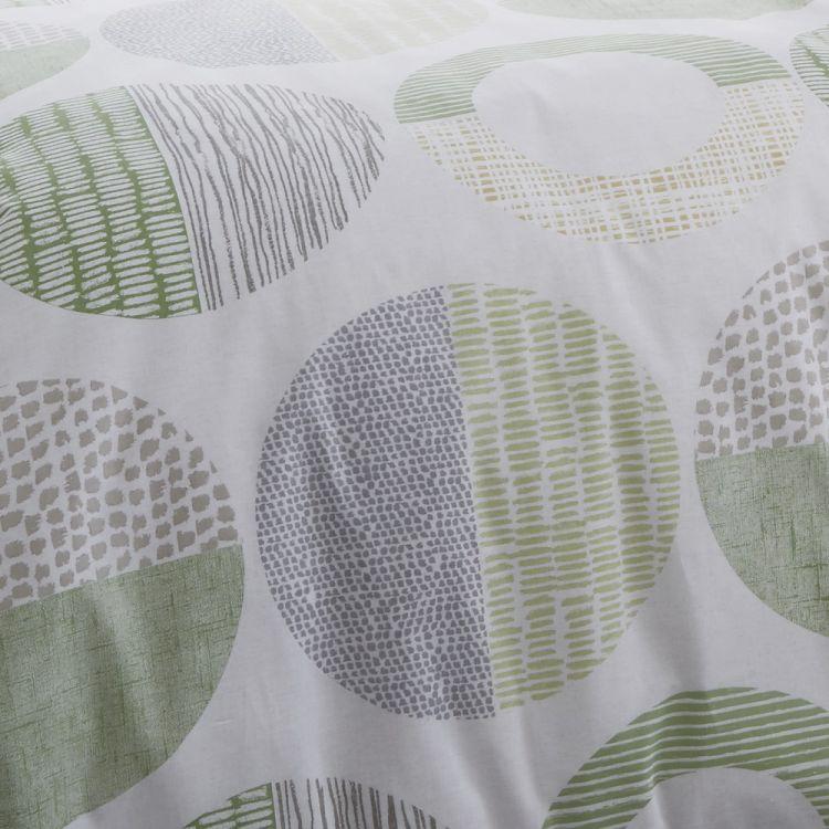 Aslan Circles Reversible Stripe Duvet Cover Set Green Amp Multi Tonys Textiles