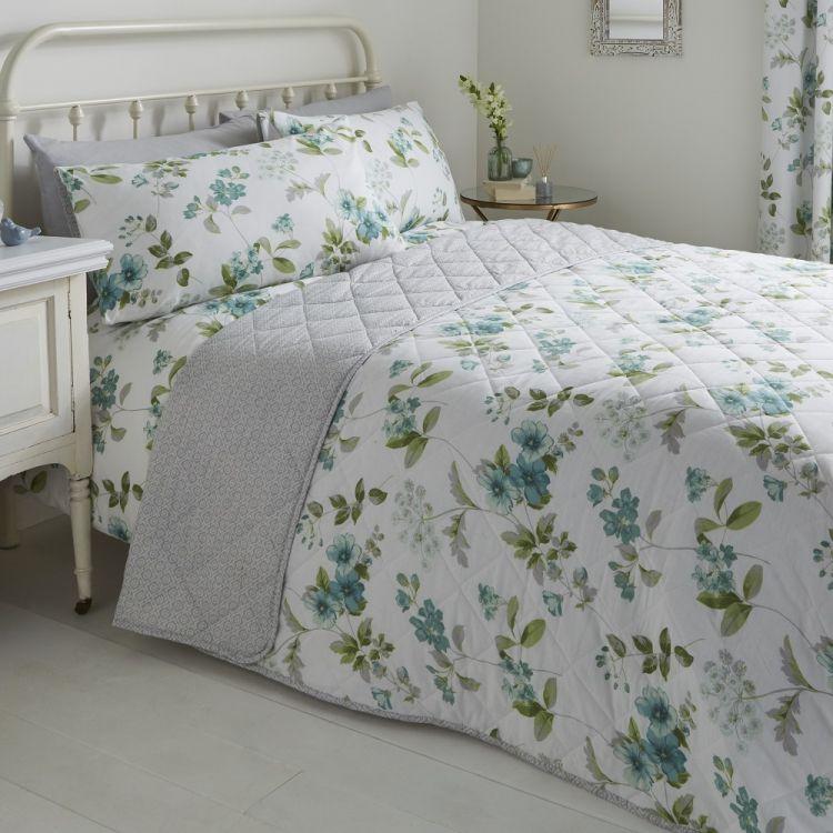 Lorena Floral Duvet Cover Set Green Tonys Textiles
