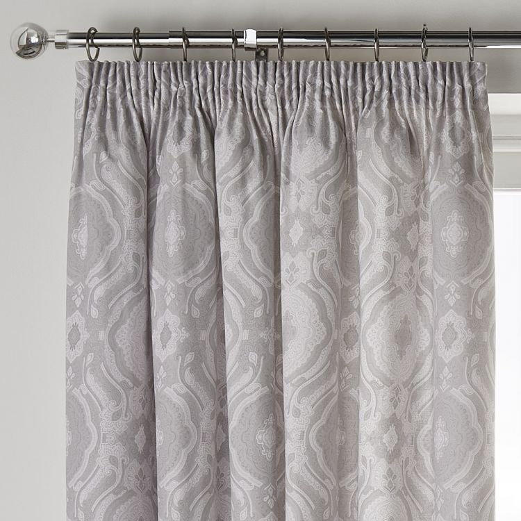 Alford Blackout Tape Top Curtains Silver Grey