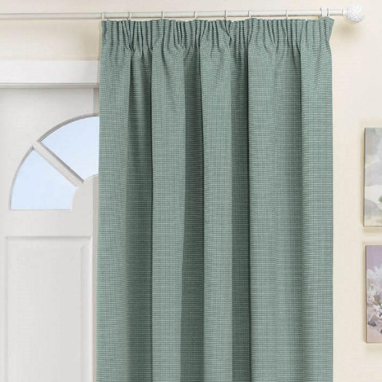 Kent Thermal Blackout Tape Top Door Curtain Blue