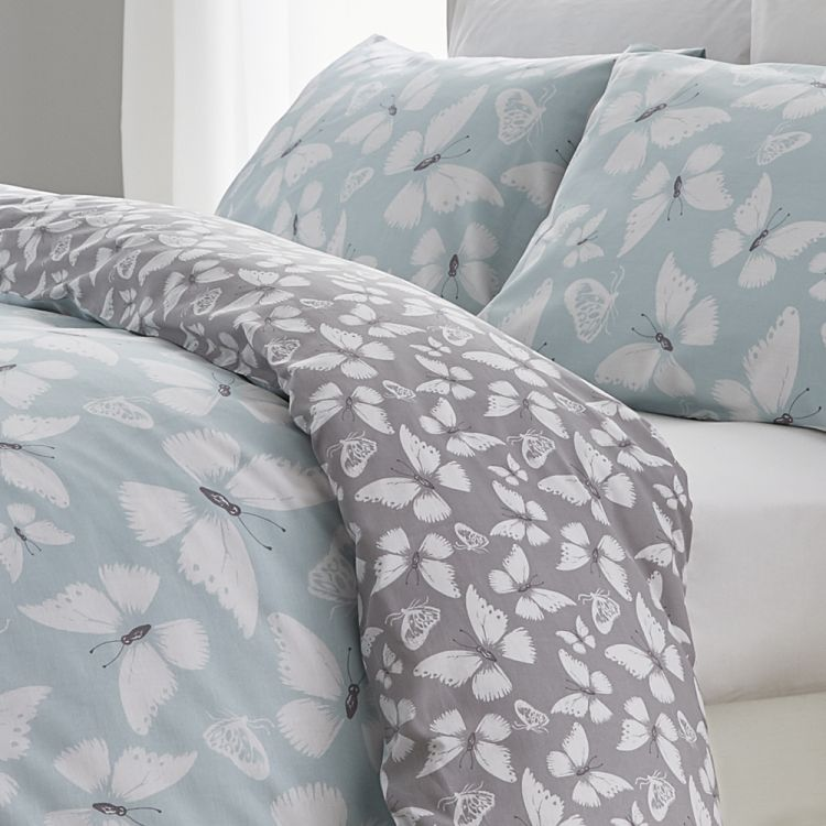 Catherine Lansfield Butterfly Duvet Cover Set Duck