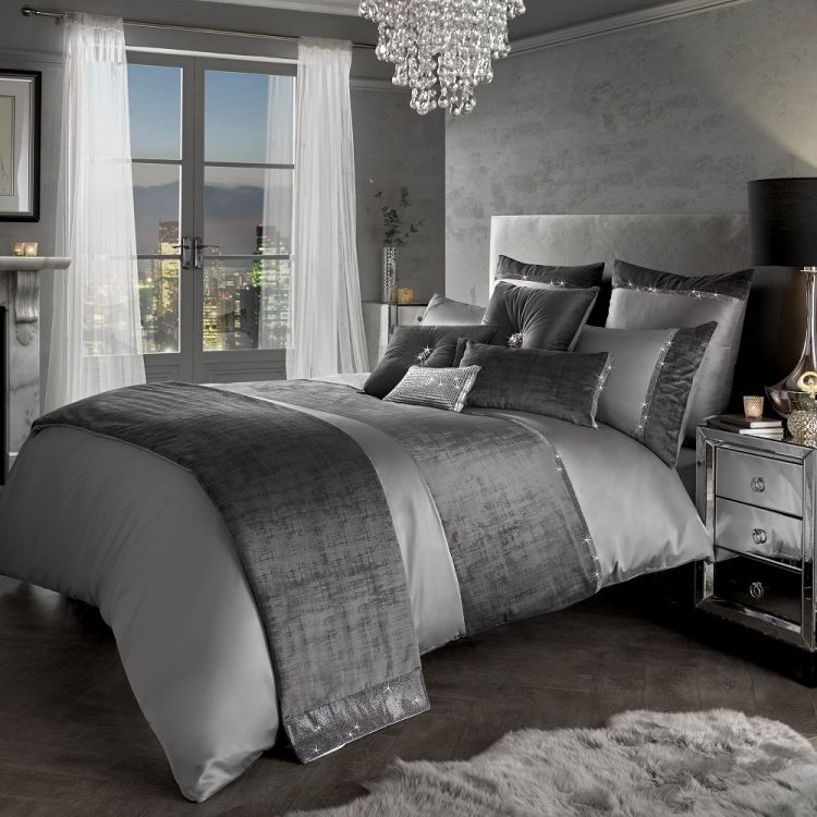 quilt watch silver double cover bed duvet crushed set velvet linen size bedding king