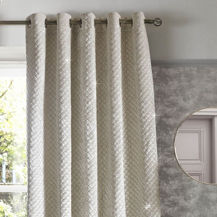 Kylie Minogue Grazia Curtains Oyster Tonys Textiles