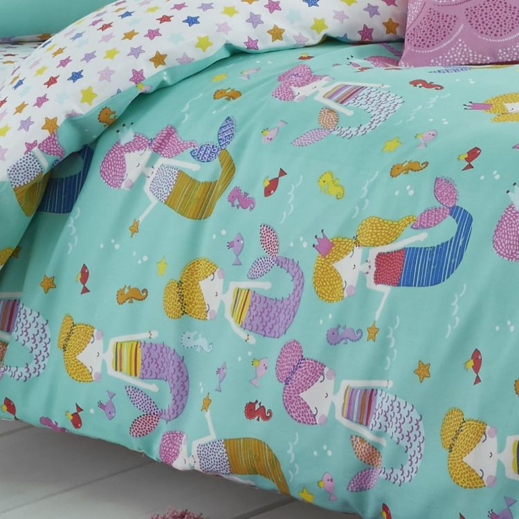 Catherine Lansfield Mermaid Duvet Cover Set Blue