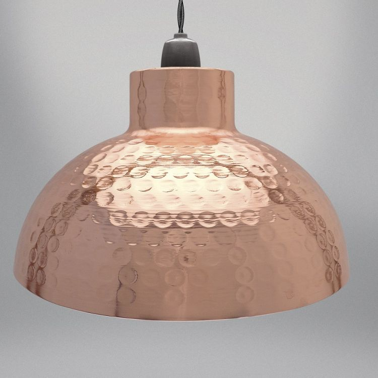 Dome Light Fitting Copper Tonys Textiles