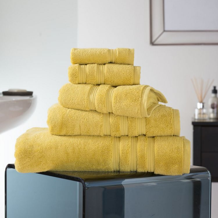 Opulence 100 Cotton 800gsm Bathroom Towel Saffron