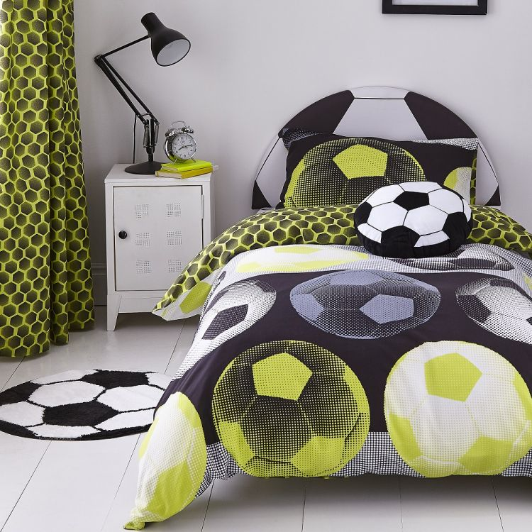 Catherine Lansfield Neon Football Duvet Cover Set