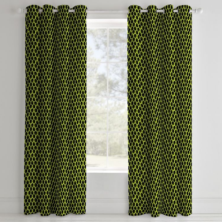 Catherine Lansfield Neon Football Eyelet Curtains