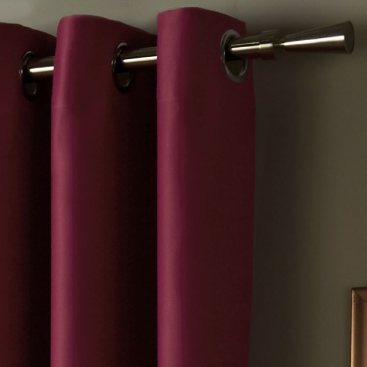 Thermal Lined Blackout Eyelet Curtains Raspberry Pink Tonys Textiles