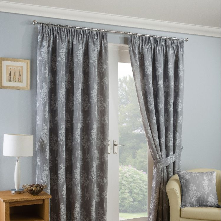 Arlington Ready Made Curtains Silver Grey Tonys Textiles