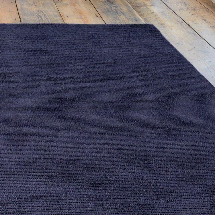 Reko Rug Navy Blue Plain Tonys Textiles
