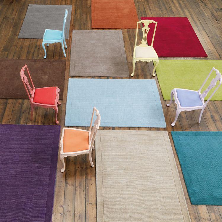 York Rug Terracotta Orange Plain Tonys Textiles