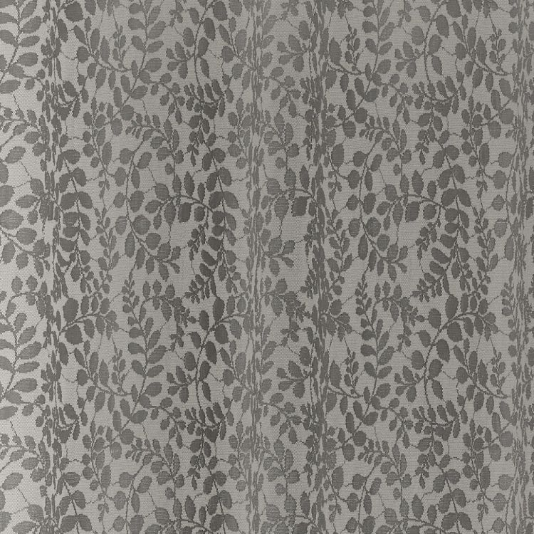 Willow Floral Lace Voile Curtain Panel Silver Grey