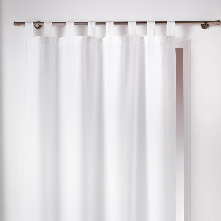 Essentiel Plain Tab Top Curtain Panel White Tonys