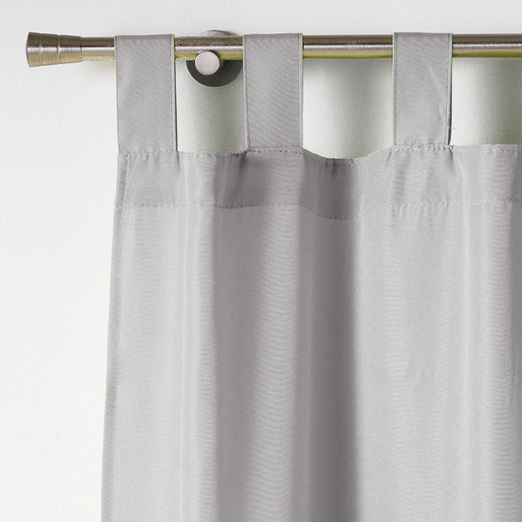 Essentiel Plain Tab Top Curtain Panel Silver Grey