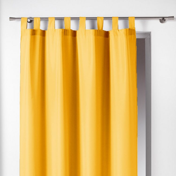Essentiel Plain Tab Top Curtain Panel Yellow