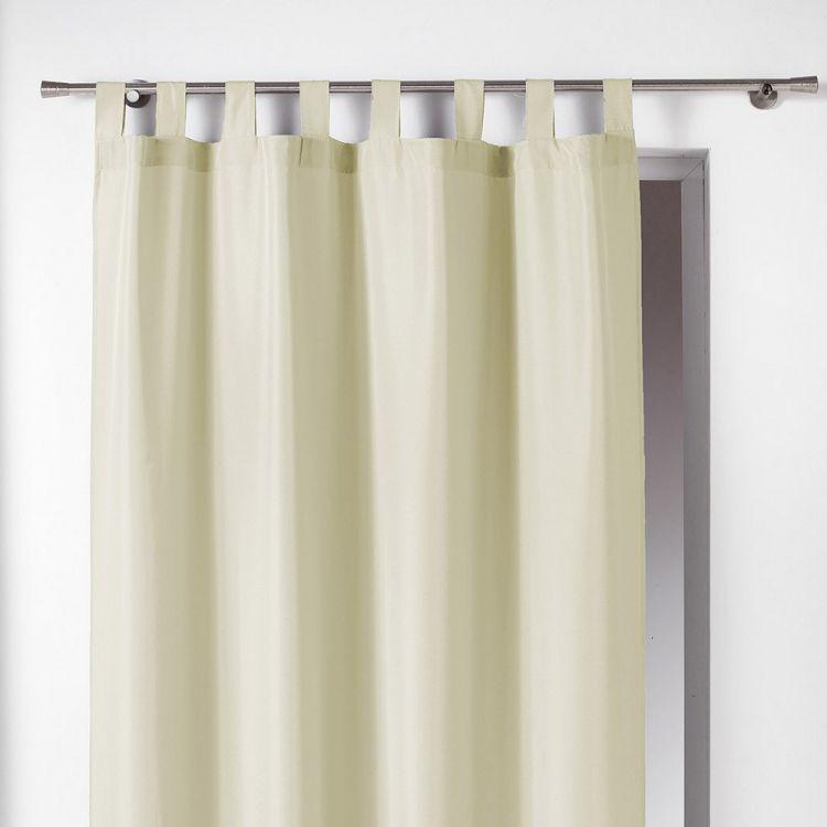 Essentiel Plain Tab Top Curtain Panel Cream Tonys